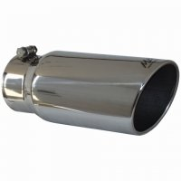 "MBRP Angled Rolled Edge Single Wall Exhaust Tip (4"" Inlet, 5"" Outlet) T5051"