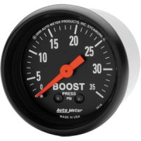 Auto Meter Z-Series Boost Gauge 2616