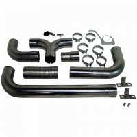 "MBRP 4"" XP Series Filter-Back Dual Exhaust Stack System S8202409"