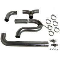 "MBRP 4"" XP Series Filter-Back Dual Exhaust Stack System S8104409"