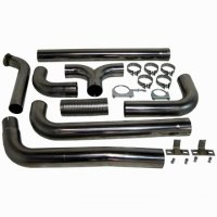 "MBRP 4"" XP Series Turbo-Back Dual Exhaust Stack System S8201409"