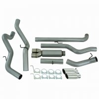 "MBRP 4"" Dual Installer Series Downpipe-Back Exhaust System S6006AL"