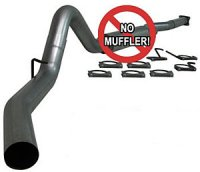 "MBRP 4"" PLM Series Turbo-Back Exhaust System S6100PLM"