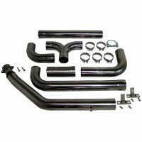 "MBRP 4"" XP Series Turbo-Back Dual Exhaust Stack System S8100409"